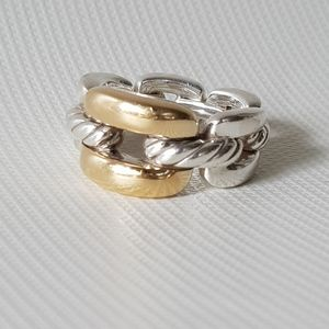 David Yurman Wellesley Link Ring With Gold